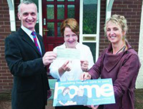 £5,000 boost for home nursing charity